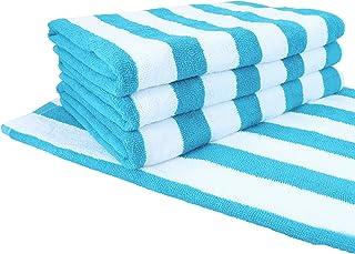 Arkwright LLC Cali Cabana Beach Towels (4-Pack, 30 x 60 in, Blue) - Oversized Pool Towels