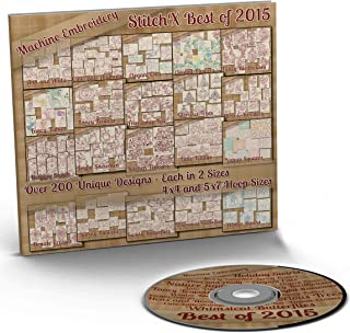 StitchX Best of 2015 Redwork Machine Embroidery Patterns - 20 Full Sets - Over 200 Designs