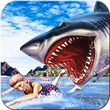 極端な怒りのサメの攻撃シミュレータ3D:水中の海洋の生き残り冒険アクション子供たちのための無料のスリリングゲーム2018