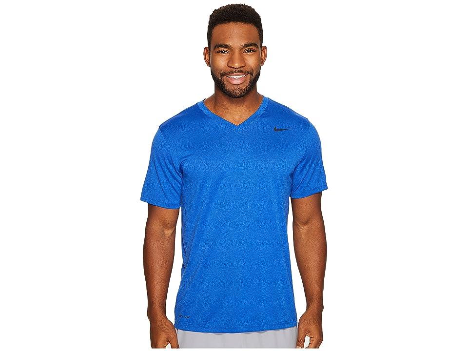 Nike Legend 2.0 Short Sleeve V-Neck Tee (Game Royal/Black/Black) Men