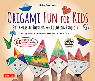 Origami Fun for Kids Kit: 20 Fantastic Folding and Coloring Projects: Kit with Origami Book, Fun & Easy Projects, 60 Origami Papers and Instructional DVD