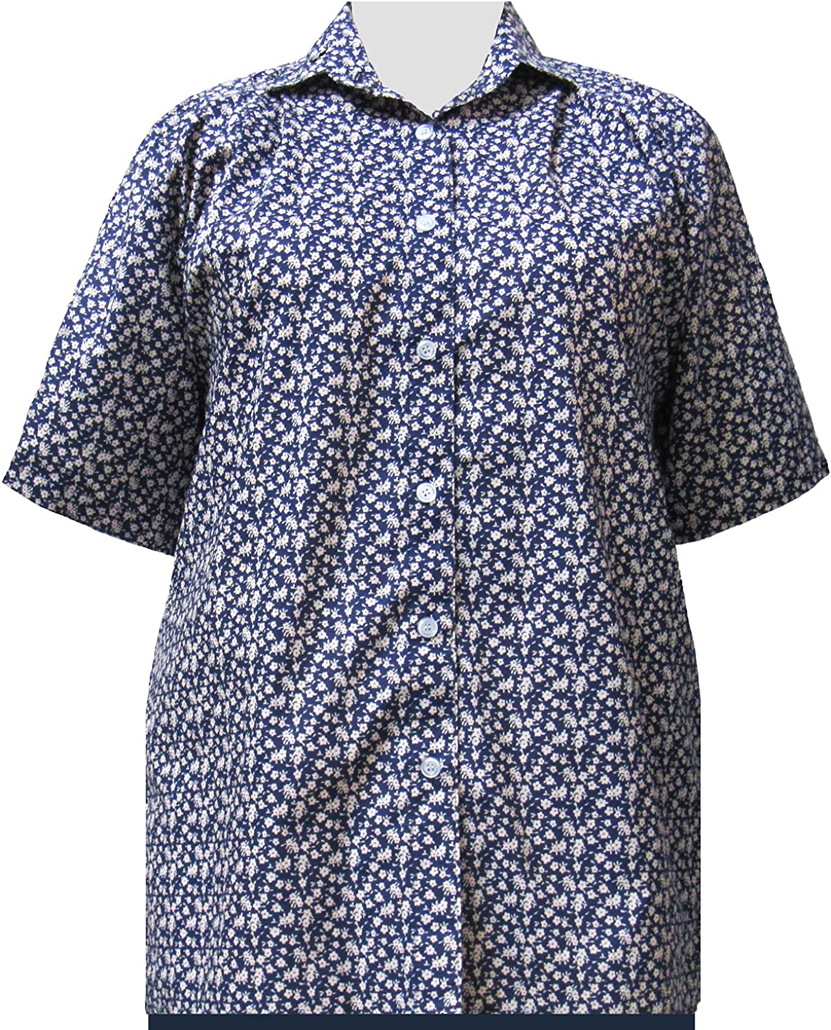 A Personal Touch bluee Ditsy Women's Plus Size Blouse