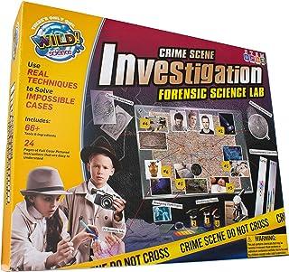 WILD! Science Crime Scene Investigation - Forensic Science Kit - Ages 8+ - Match Fingerprints, Analyze DNA, Find Secret Me...