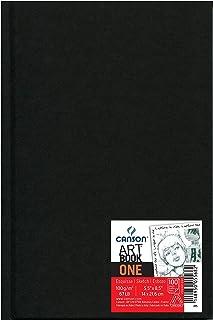 Canson Art Book One Carnet avec tranchefile Papier à dessin 98 feuilles 100g 14 x 21,6 cm Blanc