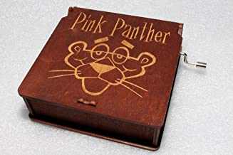 Pink Panther Music Box - #3 - Engraved Wooden Box -