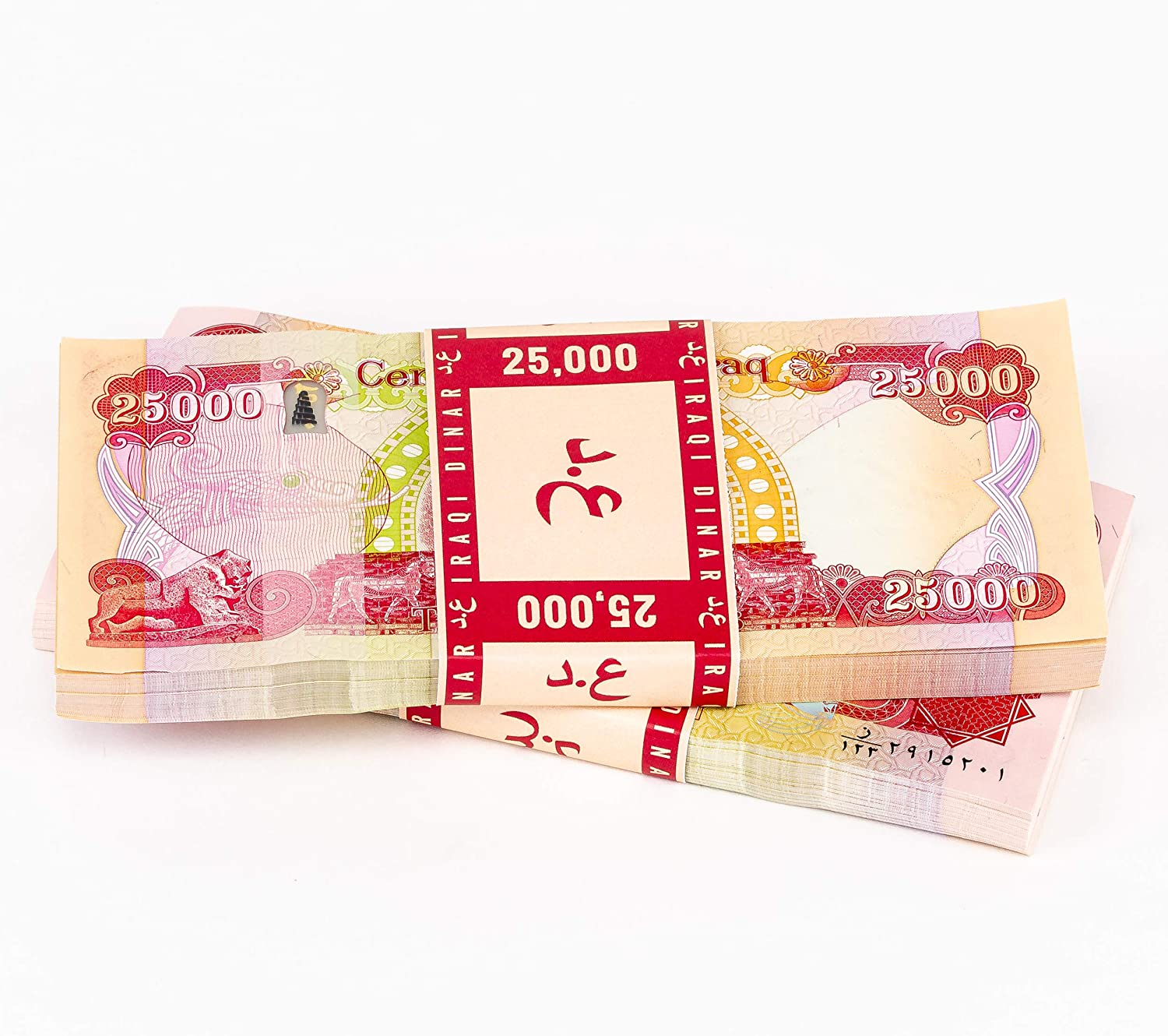 25 000 Iraqi Recommended Dinar 1 25000 New IQD Credence Series 2014 Banknote