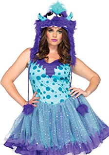 Women's Plus-Size 2 Piece Polka Dotty Monster Costume