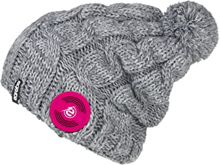 Earebel Lifestyle 'Mipeal' Braided Gray Beanie with Built-in Wireless Black AKG Studio-Quality Headphones