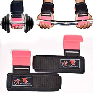 featured product Lifting Wrist Support Weight Gym Straps Bar Wraps Grips Training Hook Pink New