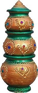 Divine Clay Kubera Lakshmi Pot set/Kubera Pot/Kubera Lucky Pot/Kubera Paanai (Buy only from Kavin organic fertilizer selle...