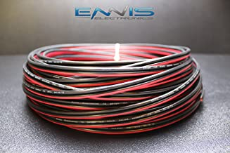 12 GAUGE 50 FT RED BLACK SPEAKER ZIP WIRE AWG CABLE POWER STRANDED COPPER CLAD BY ENNIS ELECTRONICS