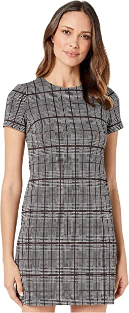 Plaid Short Sleeve T-Shirt Body Dress