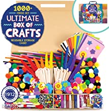 Horizon Group USA 1000+ Pieces Ultimate Box Of Crafts,Homeschool Preschool DIY Craft Kit Set For Kids & Toddlers.Includes ...