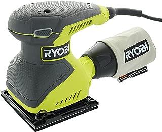 Ryobi S652DGK Corded 2 Amp 1/4 Inch 14,000 OBM Squared Orbital Finishing Sheet Sander
