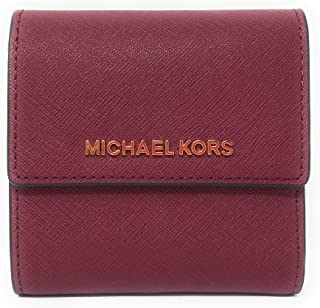 Michael Kors Jet Set Travel Small Card Case Trifold Carryall Leather Wallet