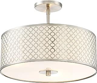Best 3 light semi flush mount light Reviews