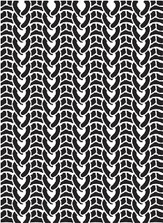 Darice Embossing Folder: Sweater, 4.25 X 5.7 Inches