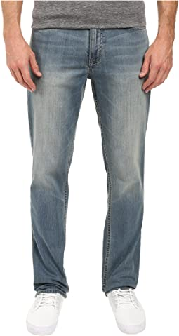 Slim Straight Denim in Silver Bullet