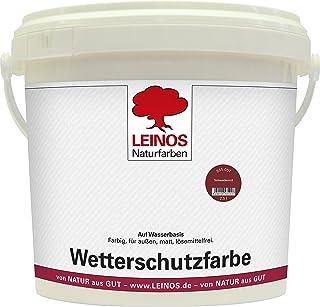 Leinos 855 Wetterschutzfarbe auf Wasserbasis 10,00 l Schweden-Rot