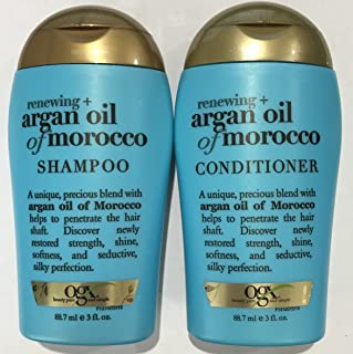 Ogx Renewing Argan Oil of Morocco Shampoo & Conditioner Travel Size - 3 Oz. Each