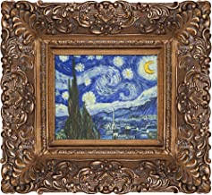 overstockArt Starry Night Framed Oil Painting by Vincent Van Gogh