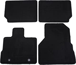 GM Accessories 22783017 Front and Rear Carpeted Floor Mats in Jet Black