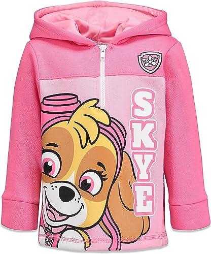 Nickelodeon Paw Patrol Skye Half-Zip Fleece Pullover Hoodie