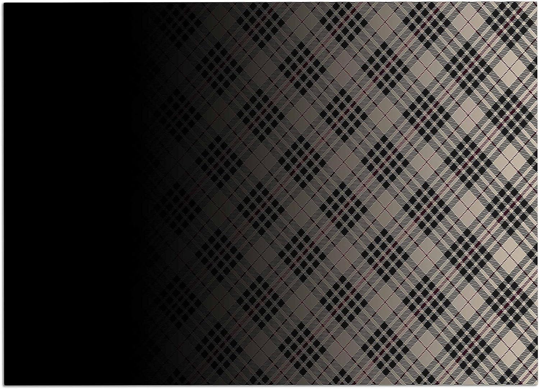 KESS InHouse CD2017ADM02 Draper Grunge Black Beige Digital Dog Place Mat, 24 x15