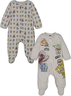 Baby Boys 2 Pack Sleep N' Play Footies