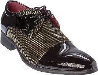 novak01 Mens Lace-Up Oxford Dress-Shoes