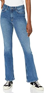 MERAKI Jeans Bootcut a Vita Alta Donna, Cotone Organico
