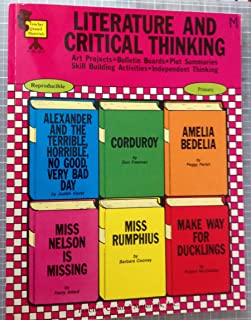 Literature and Critical Thinking Art Projects, Bulletin Boards, Plot, Summaries, Skill Building Activities, Independent Thinking Book 6 TCM-360