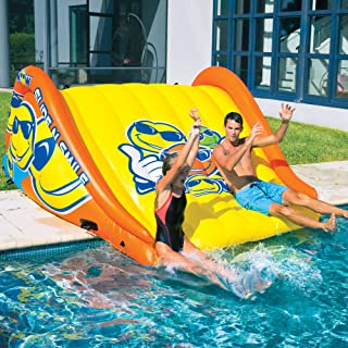 WOW World of Watersports 19-2210 Slide N Smile Floating 2 Lane Waterslide, 9 Feet Long