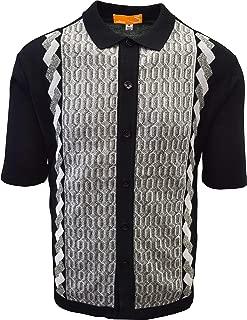 Edition S Men's Short Sleeve Knit Shirt- California Rockabilly Style: Multi Chain Links Design- 3012