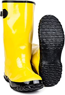 over the shoe rubber slush boots