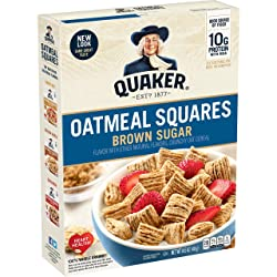 Quaker Oatmeal Squares Cereal, 14.5 Oz Box