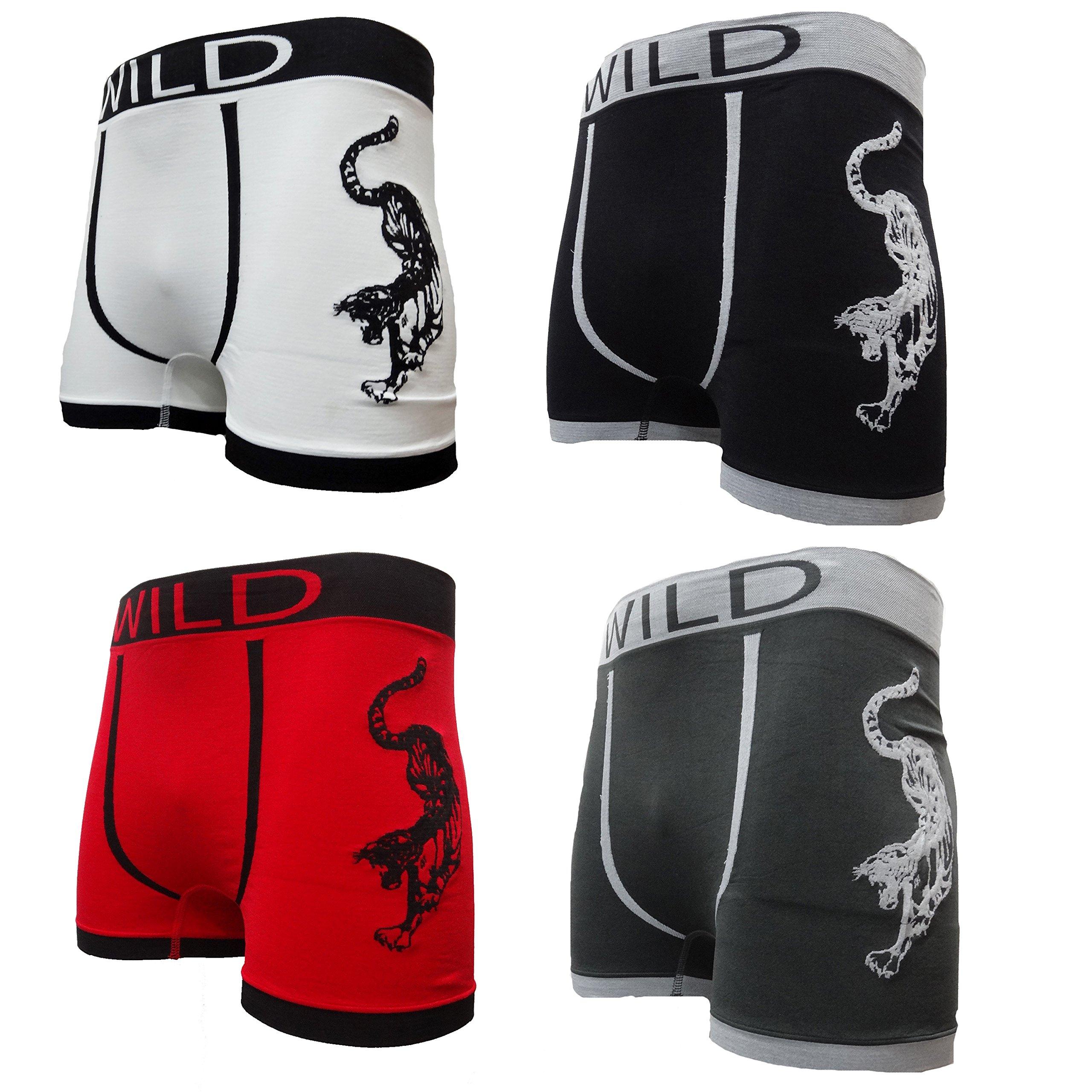 3 Pairs Adults Mens Cotton Boxer Shorts Striped Trunks Briefs Designer Underwear