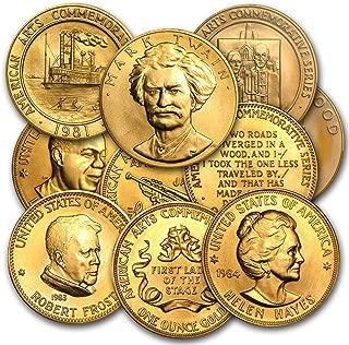 1980-1984 U.S. Mint 1 oz Gold Commemorative Arts Medal (Random) 1 OZ About Uncirculated