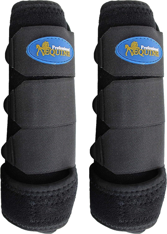 Horse Professional Equine Sports Medicine Splint Boots BELL COMBO Black 41BKA