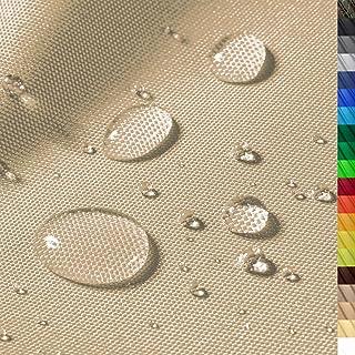 1buy3 Premium Wasserdichter Polyester Stoff   8450 mm Wassersäule   Farbe 03   Beige   Polyester Stoff 160cm breit Meterware wasserdicht Outdoor extrem reissfest