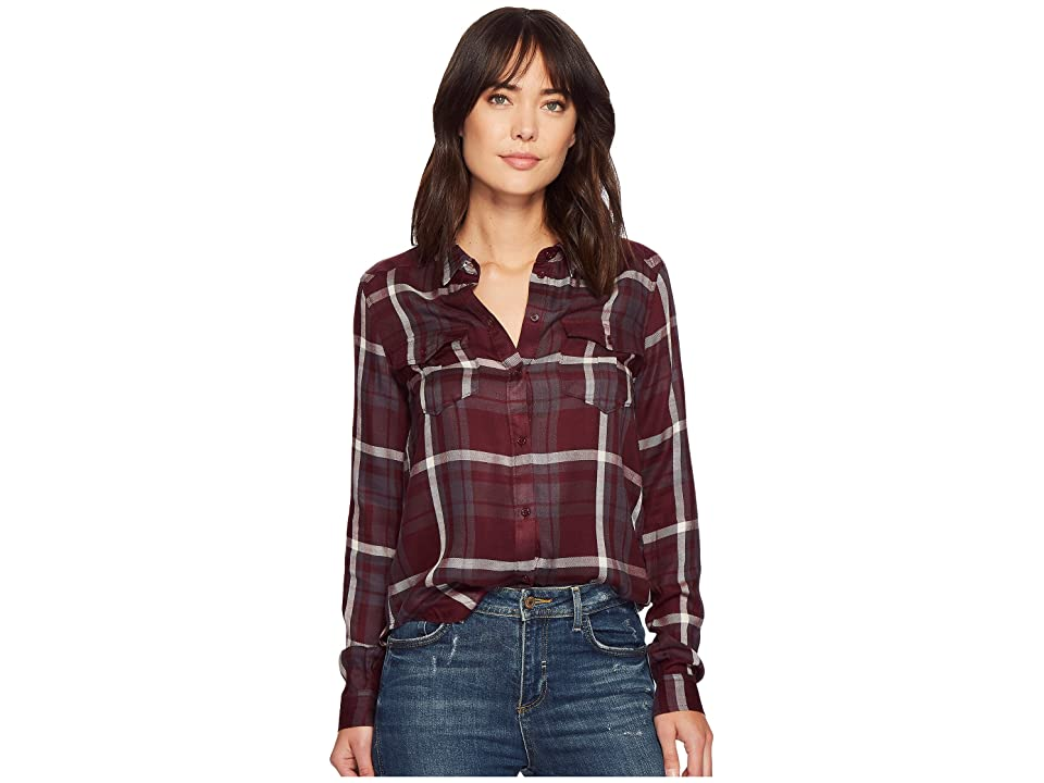 Paige Mya Shirt (Dark Mauve Wine) Women