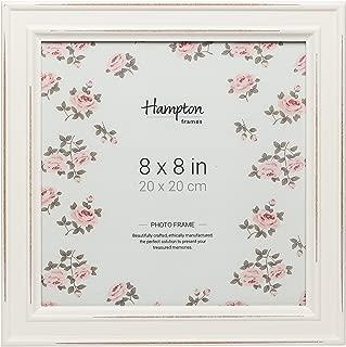 Paloma carré cadre photo 4x4 10x10cm blanc effet vieilli Shabby finition bois