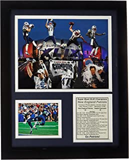 Legends Never Die NFL Unisex NFL Seattle Seahawks Framed Photo Collage, 2015 Super Bowl XLIX Champions, 11-Inch by 14-Inch