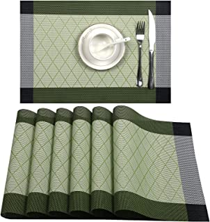 Lunch mat placemat great for travel /& lunchbox green  yellow  lime table cloth with napkin and silverware holder