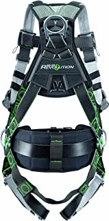 Miller Revolution Full Body Safety Harness with Suspension Loop & Quick Connectors, Size 2X & 3X, 400 lb. Capacity (RDTSL-QC/XXL/XXXLBK)