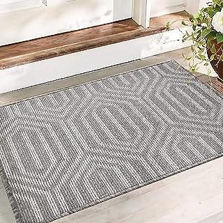 Color&Geometry Non-slip Dirt Trapper Door Mat 50 x 80 cm, Machine Washable Soft Doormat Barrier Rug Entrance Rug for Front...
