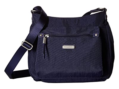 Baggallini New Classic Uptown Bagg with RFID Phone Wristlet (Navy) Bags