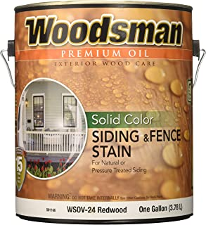 True Value WSOV24-GAL 1-Gallon RedWood Solid Stain Solid Color Oil House and Trim Stain