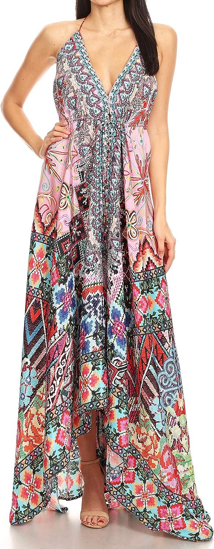 Sakkas Lizi Directly managed store New product type Womens Maxi High-Low Handkerchief Dress Long Halter