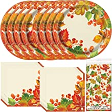 fall themed dinner plates
